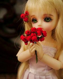 Baby-Doll-With-Flowers